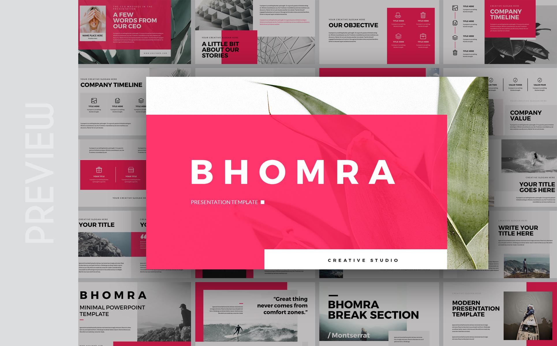 Bhomra-Minimal Presentation PowerPoint Template