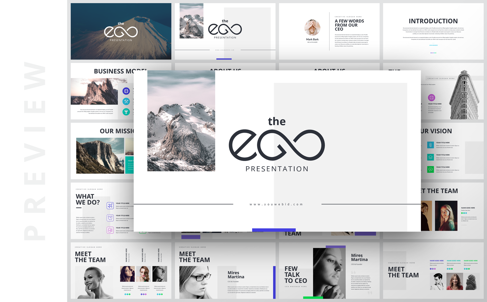 EGO-Multipurpose Business PowerPoint Template