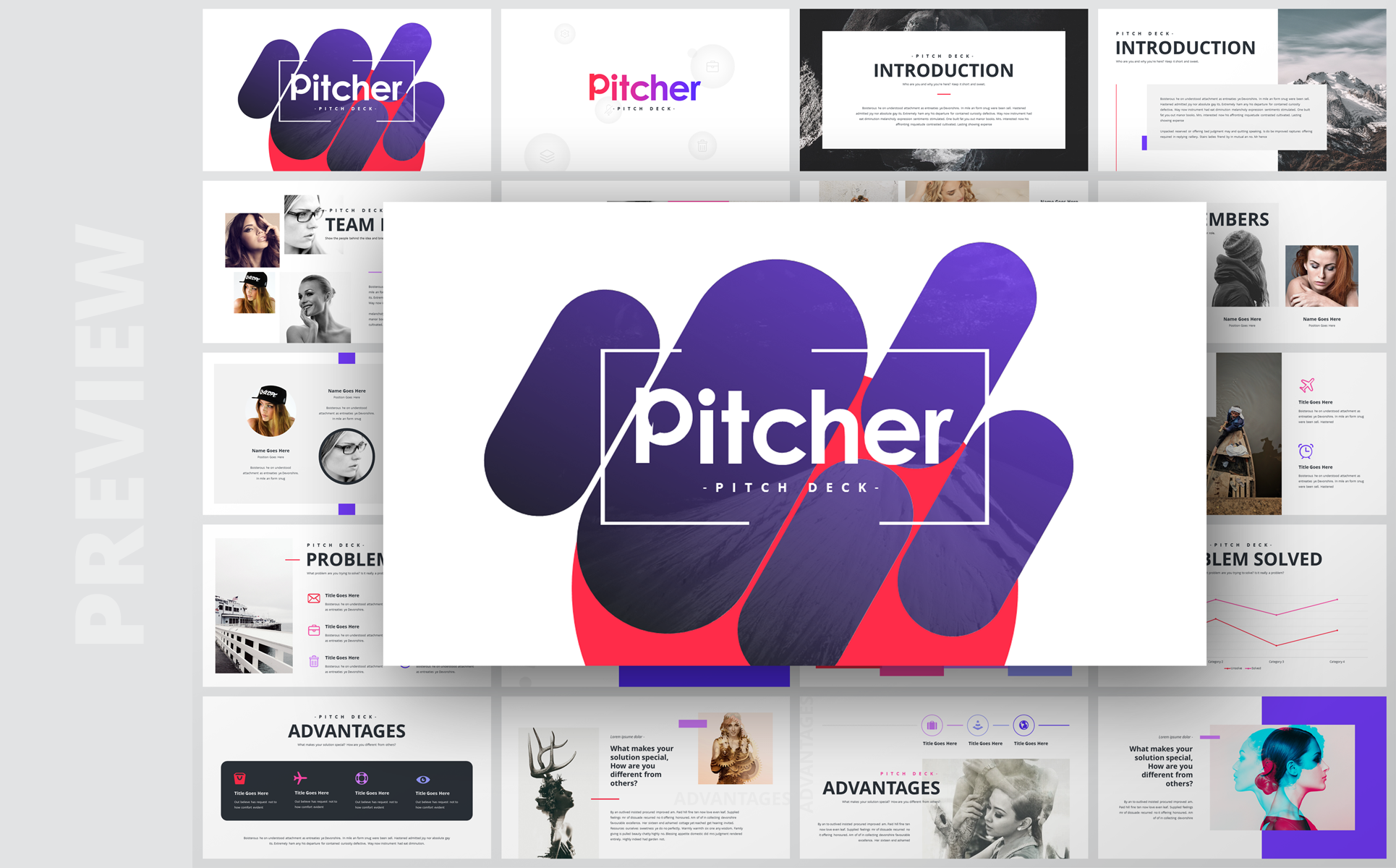 Pitcher-Multipurpose Pitch Deck PowerPoint Template