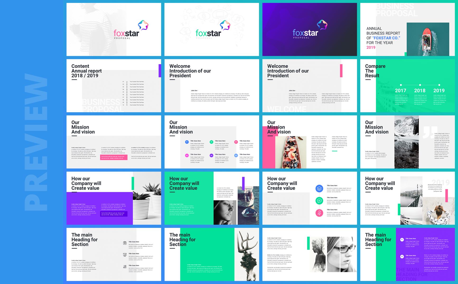 Foxstar- Modern Business PowerPoint Template