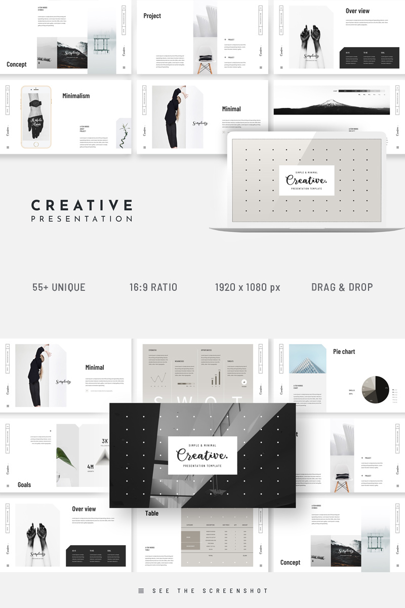 Creative Canva Minimal Powerpoint Template