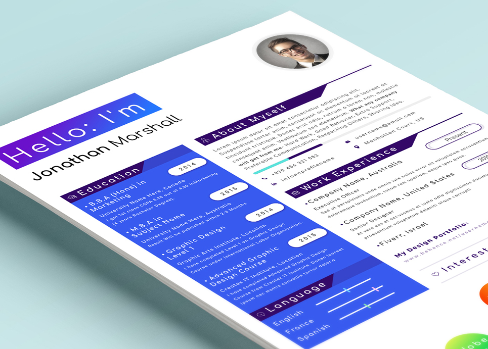 Topper Modern Word Pages Resume Template