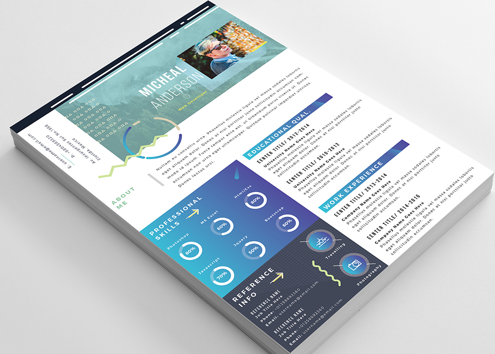 Micheal Anderson- Modern Resume Template
