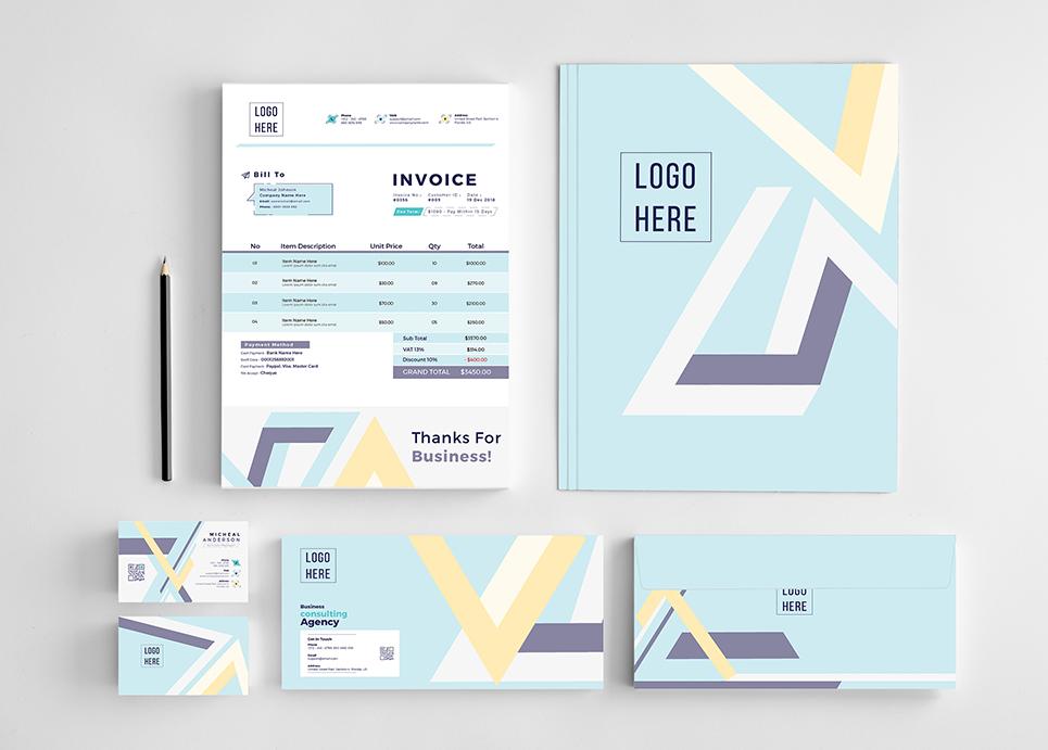 Geometrical Branding Corporate Identity
