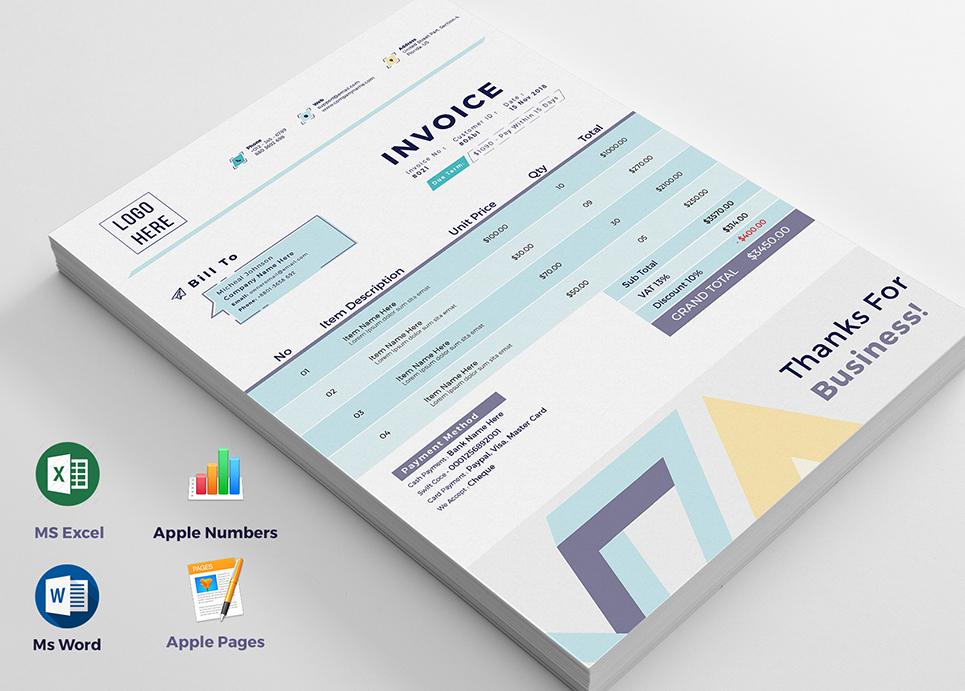 Multix Auto Calculation Invoice Corporate Identity