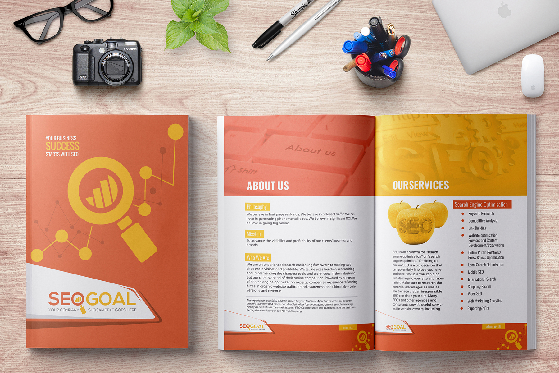 Brochure for SEO (Search Engine Optimization) Agency Corporate Identity