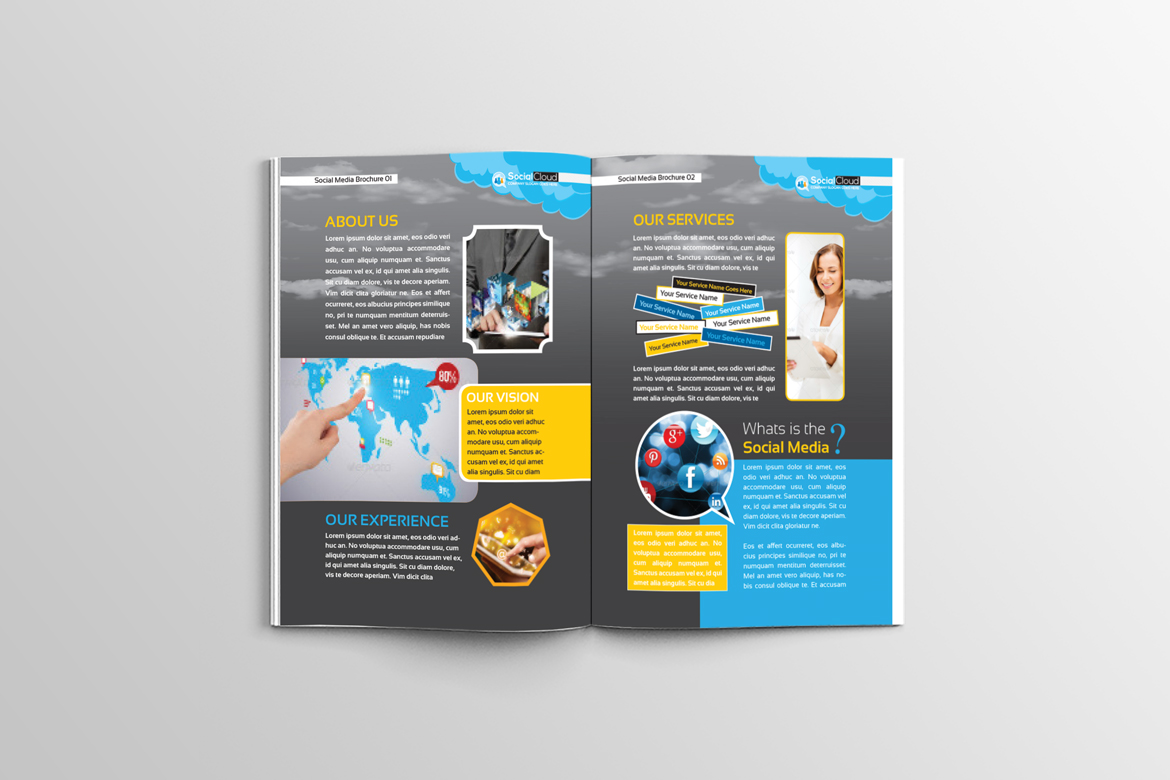 Brochure for Social Media Business Corporate Identity