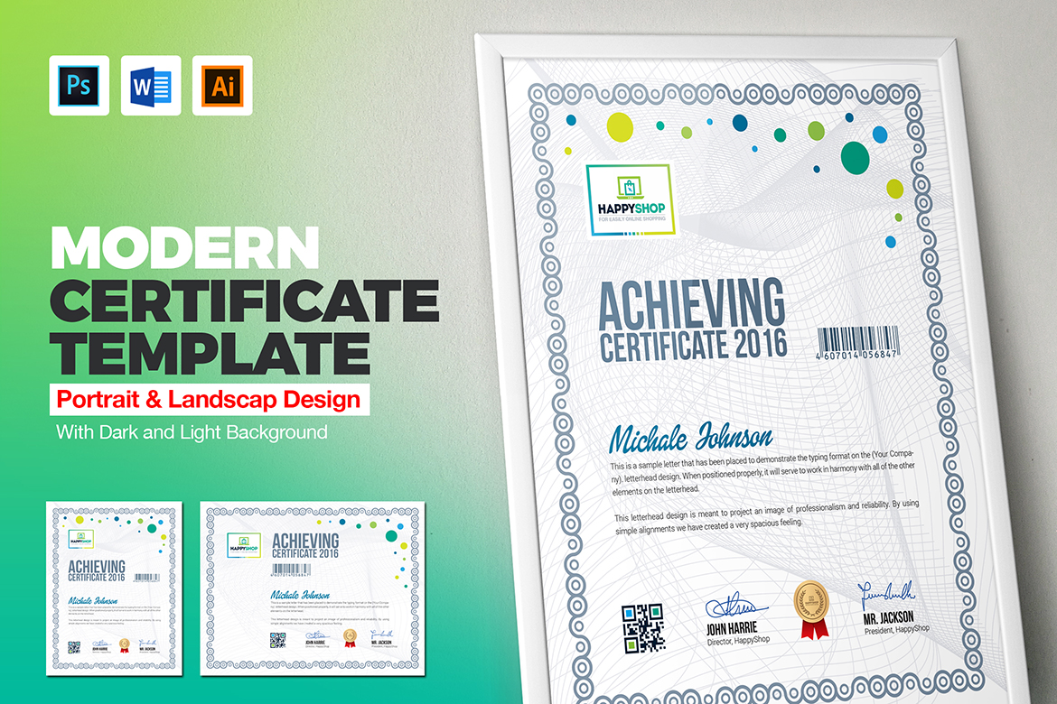 Multipurpose Corporate & Modern Certificate Template