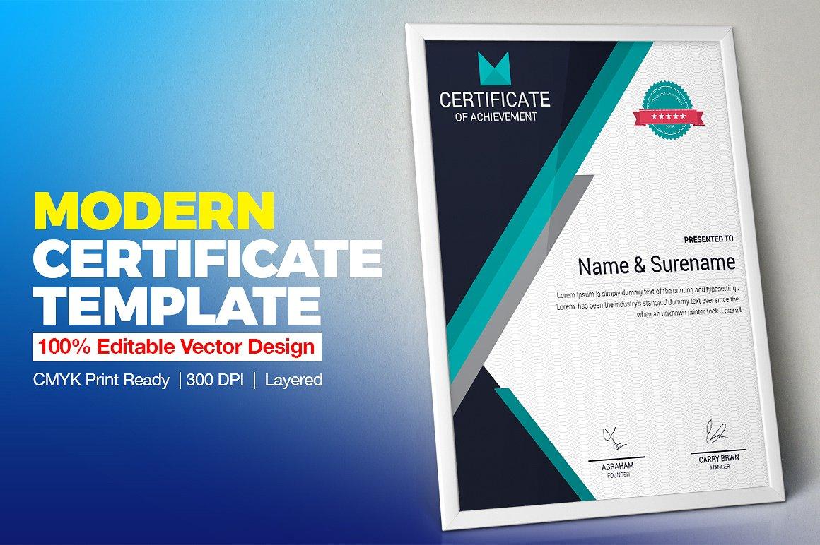Corporate & Modern | Vol. 02 Certificate Template