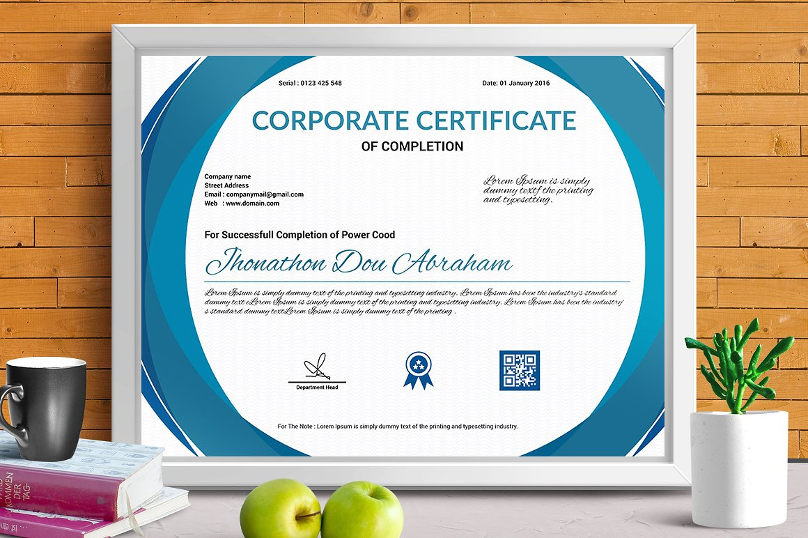 Corporate & Modern | Vol. 03 Certificate Template