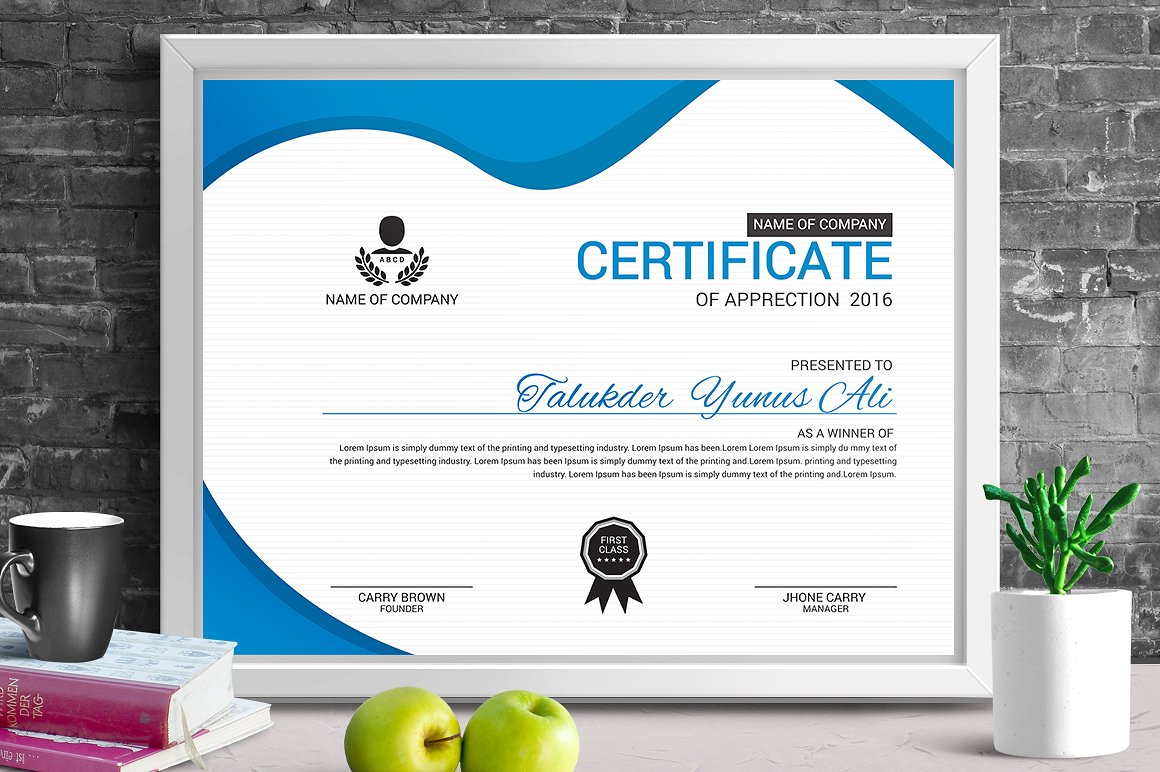 Corporate & Modern | Vol. 05 Certificate Template