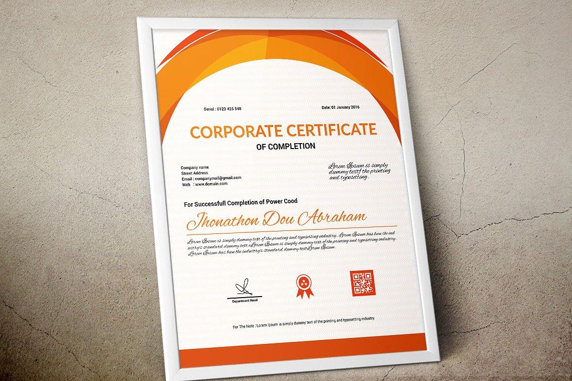 Corporate & Modern | Vol. 06 Certificate Template