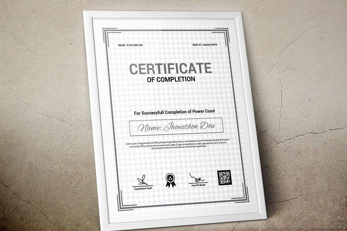 Corporate & Modern   Vol. 09 Certificate Template