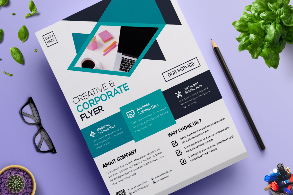 Creative and Modern Flyer   Vol. 10 Corporate Identity