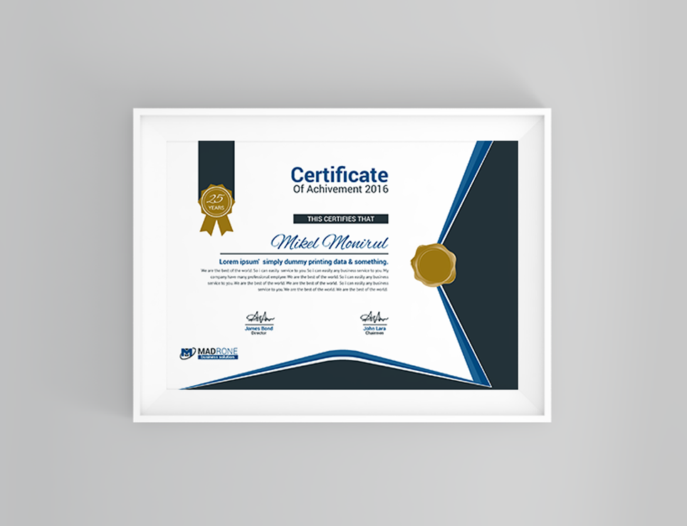 NGO Certificate Template
