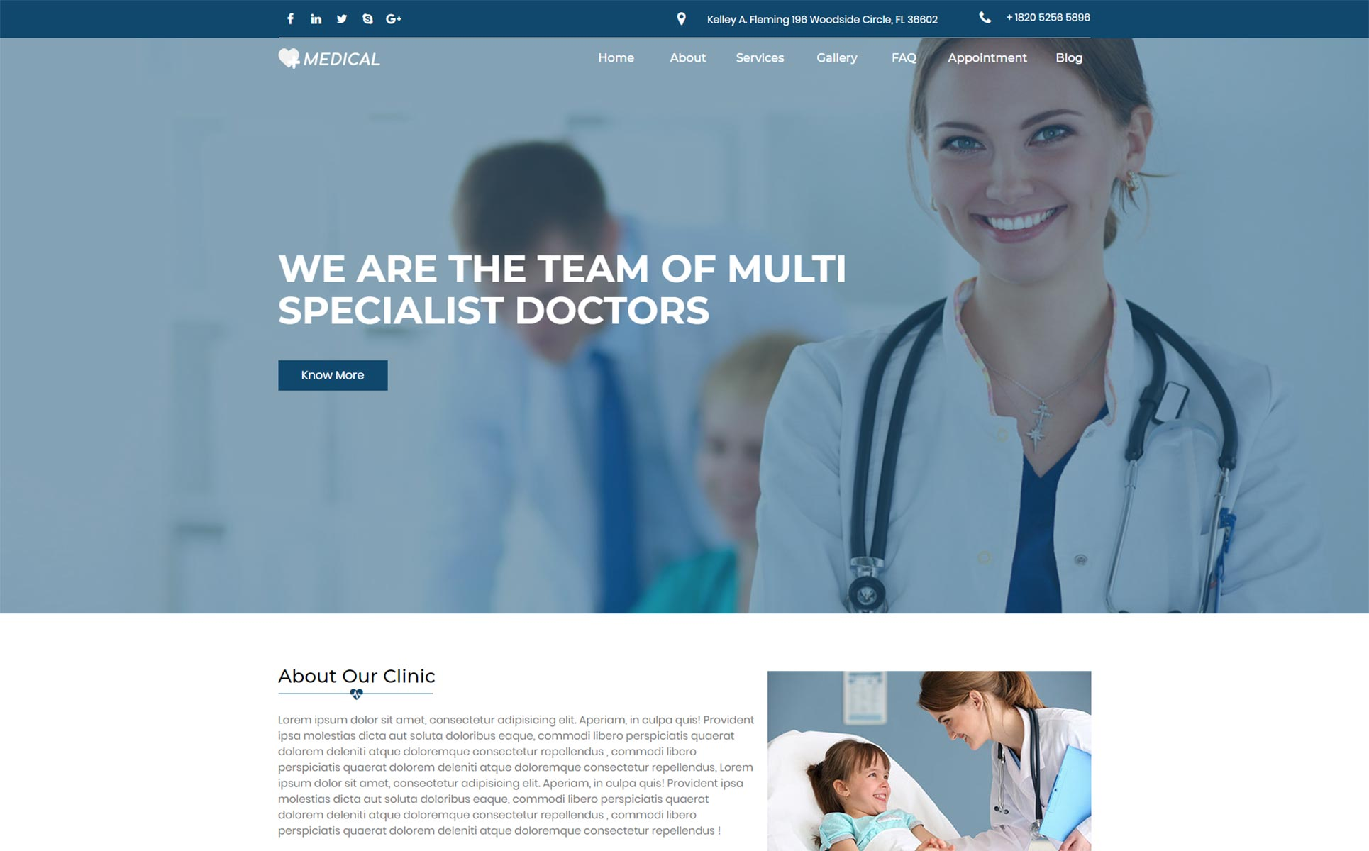Medical Responsive Unbounce Template