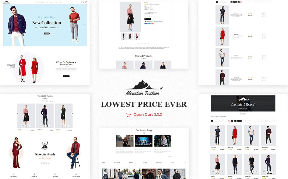Mountain Fashion OpenCart Theme