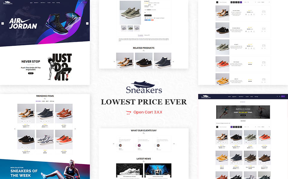 Sneakers Shoes Store OpenCart Theme