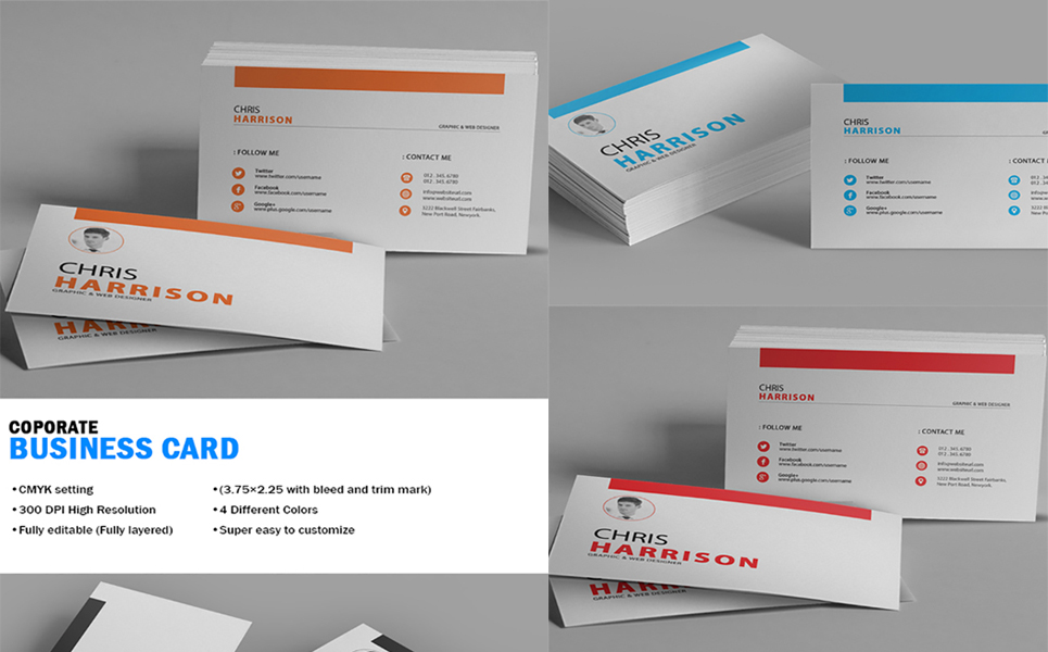 Chris Harrison Corporate Business Card - Corporate Identity