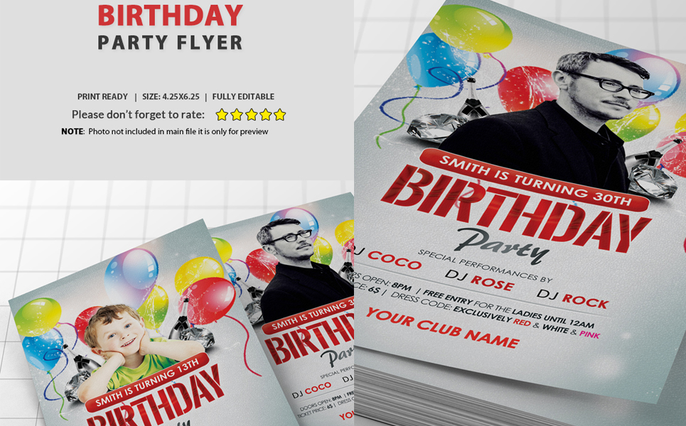 Birthday Party Flyer Corporate Identity