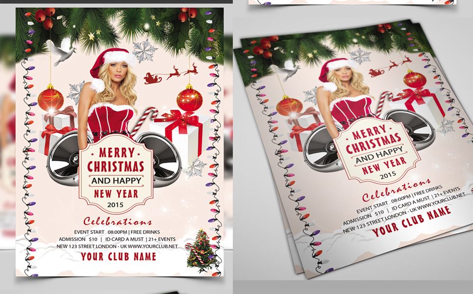 Christmas Party Flyer Corporate Identity
