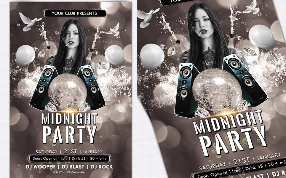 Midnight Party Flyer Corporate Identity