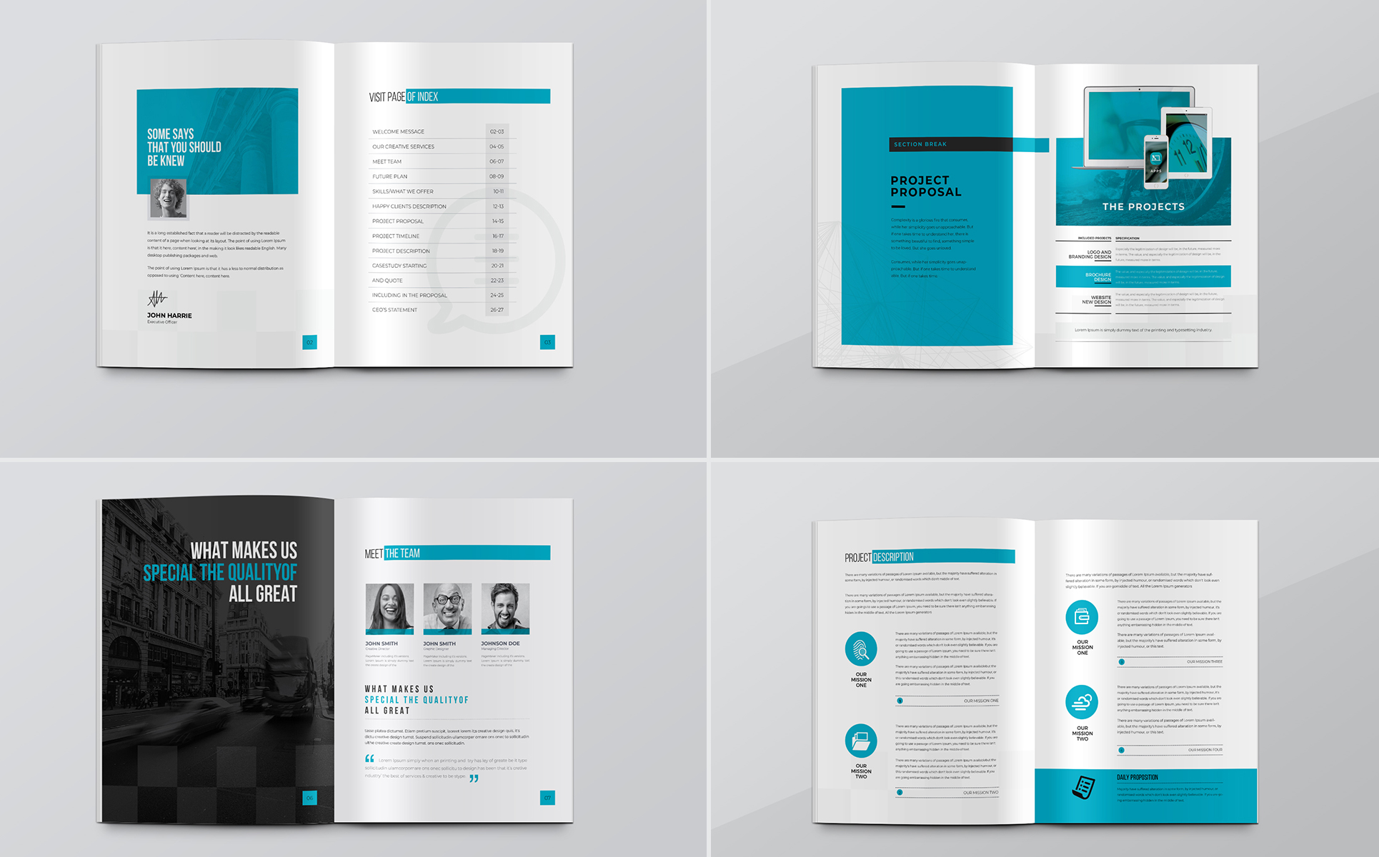 Minimal Project Proposal Corporate Identity