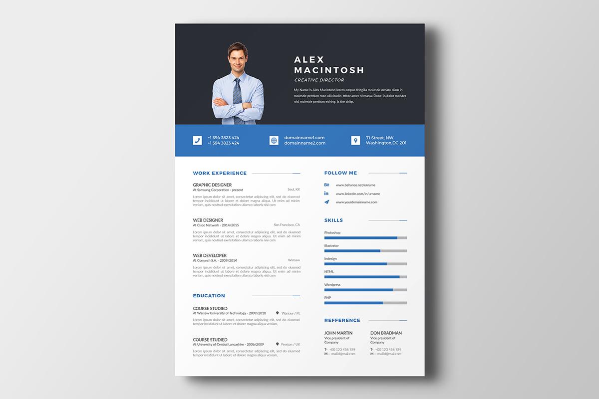 Alex Macintosh Professional Resume Template