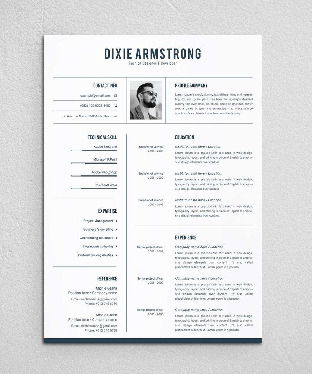 Dixie Armstrong Resume Template