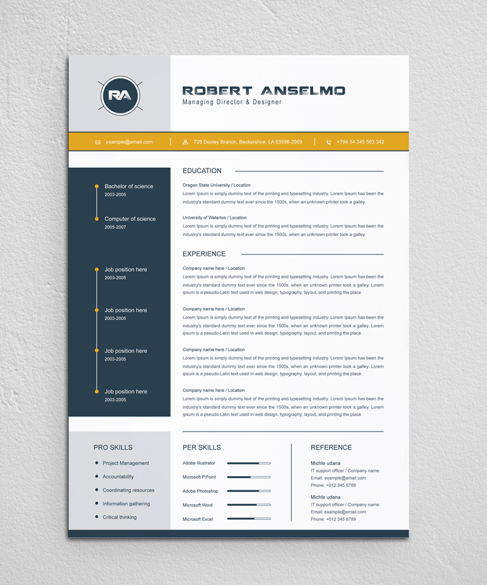 robert anselmo resume template