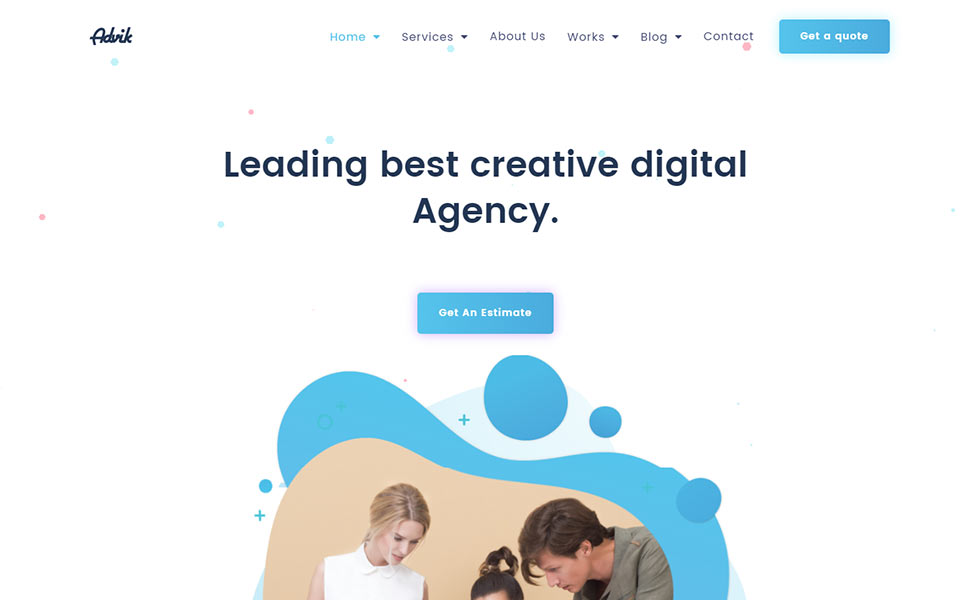 Advik Creative Agency HTML Landing Page Template