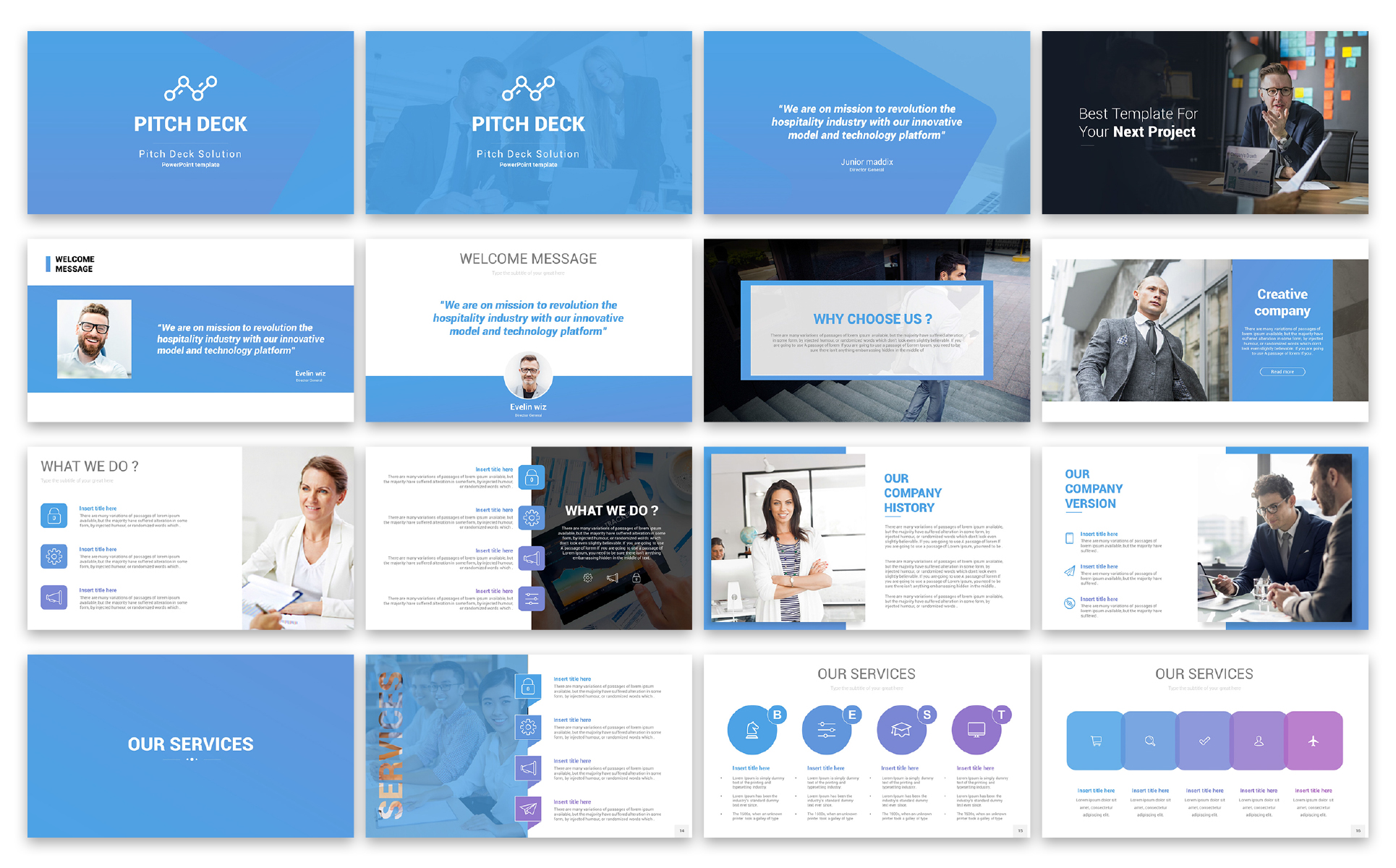 Pitch Deck Solution Presentation PowerPoint Template