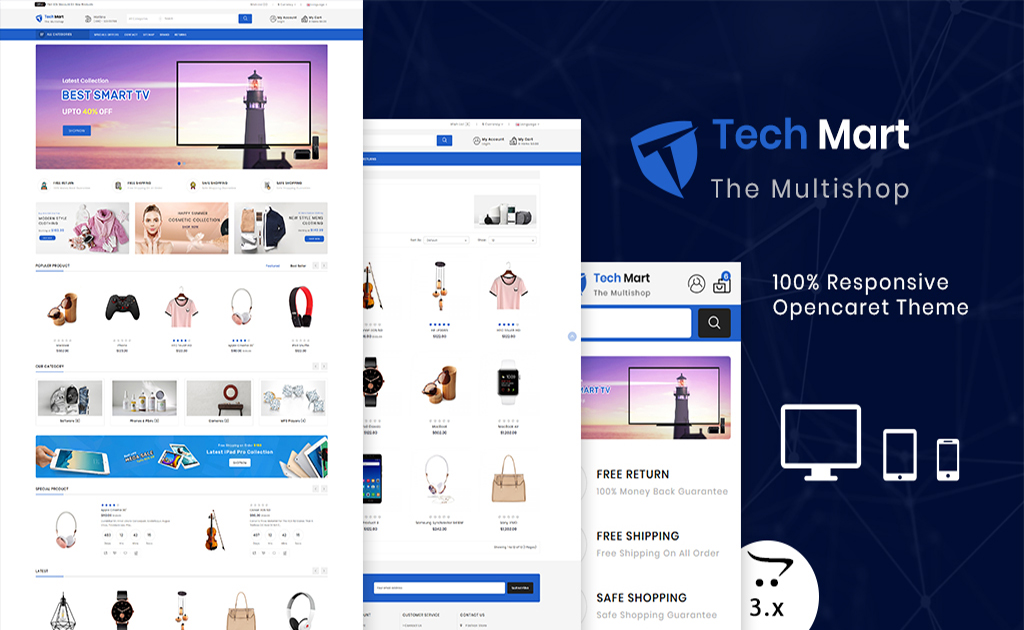 TechMart - The Shopping Mall OpenCart Template
