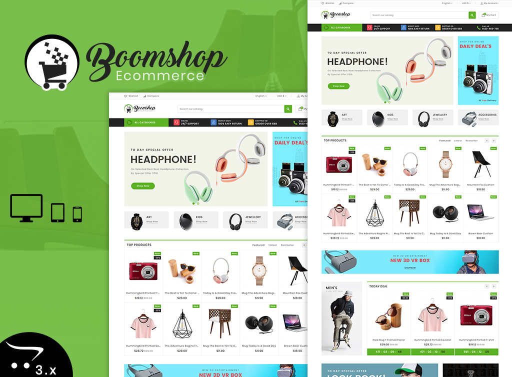 Boomshop - The Shopping Mall OpenCart Template