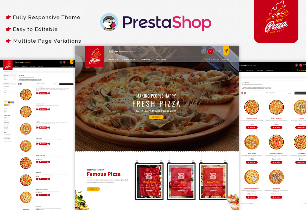 Pizza -The best Food Store PrestaShop Theme