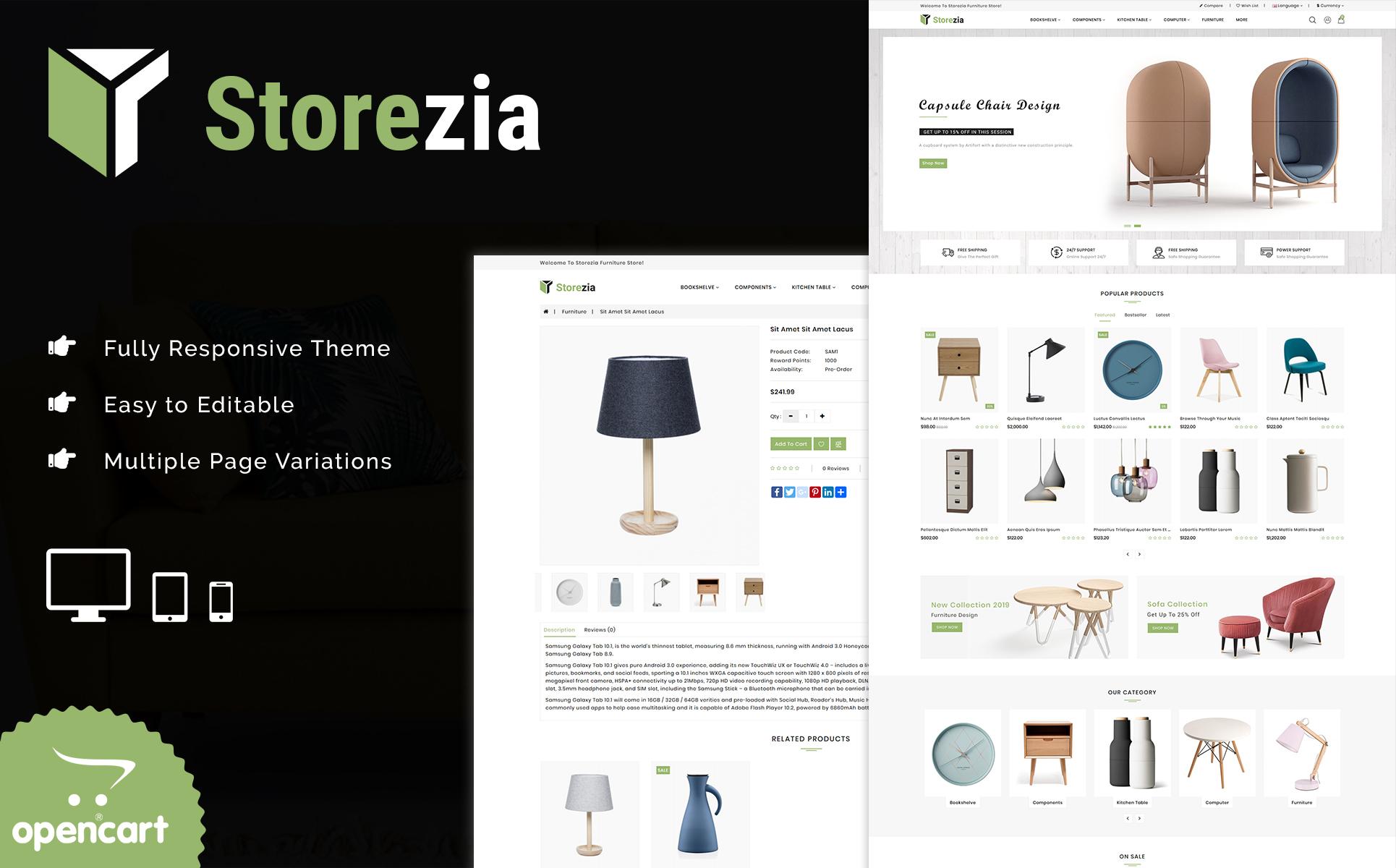 Storezia The Furniture Store OpenCart Theme