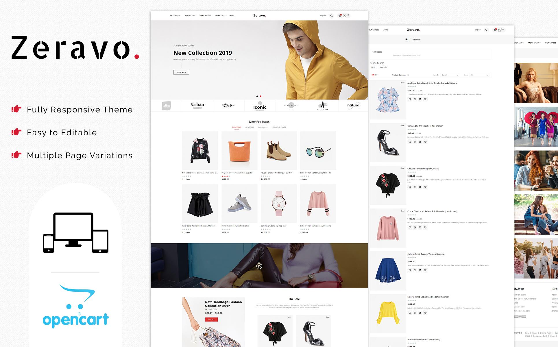 Zeravo Fashion Responsive OpenCart Template