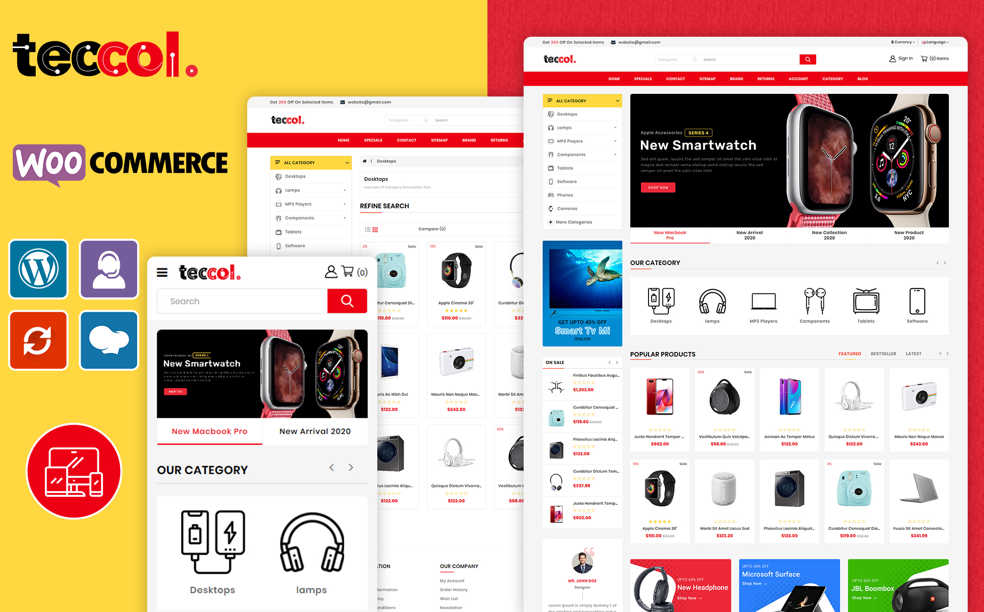 Teccol Electronic WooCommerce Theme