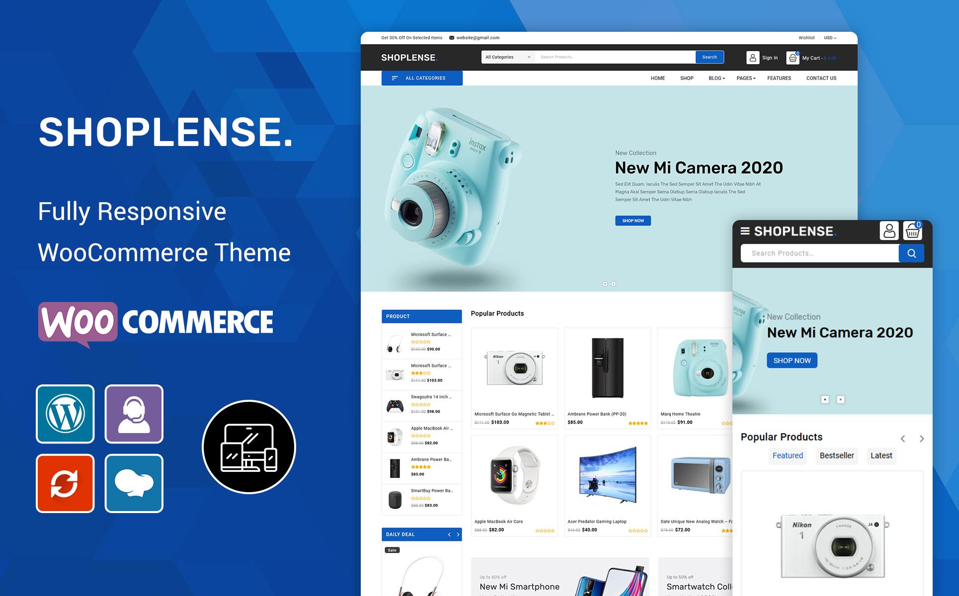 Shoplense - Electronics Premium WooCommerce Theme