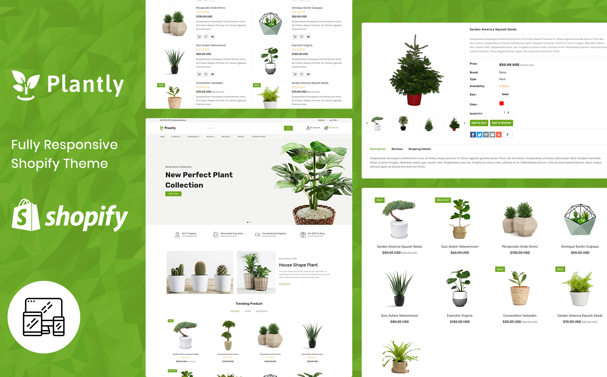 Plantly - Gardan Furniture Responsive Shopify Template Shopify Theme
