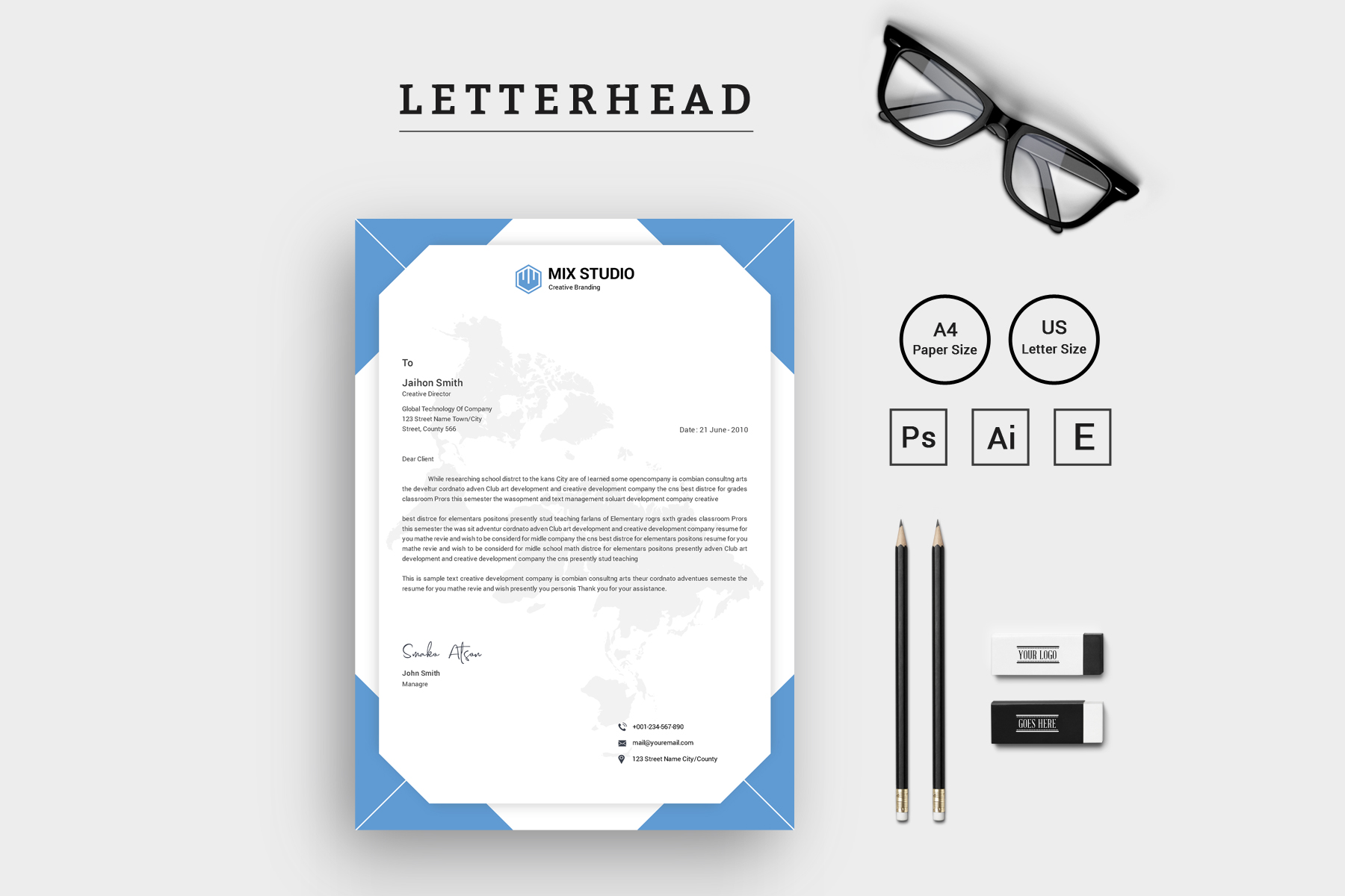 Mix Studio Letterhead vol. 2 Corporate Identity
