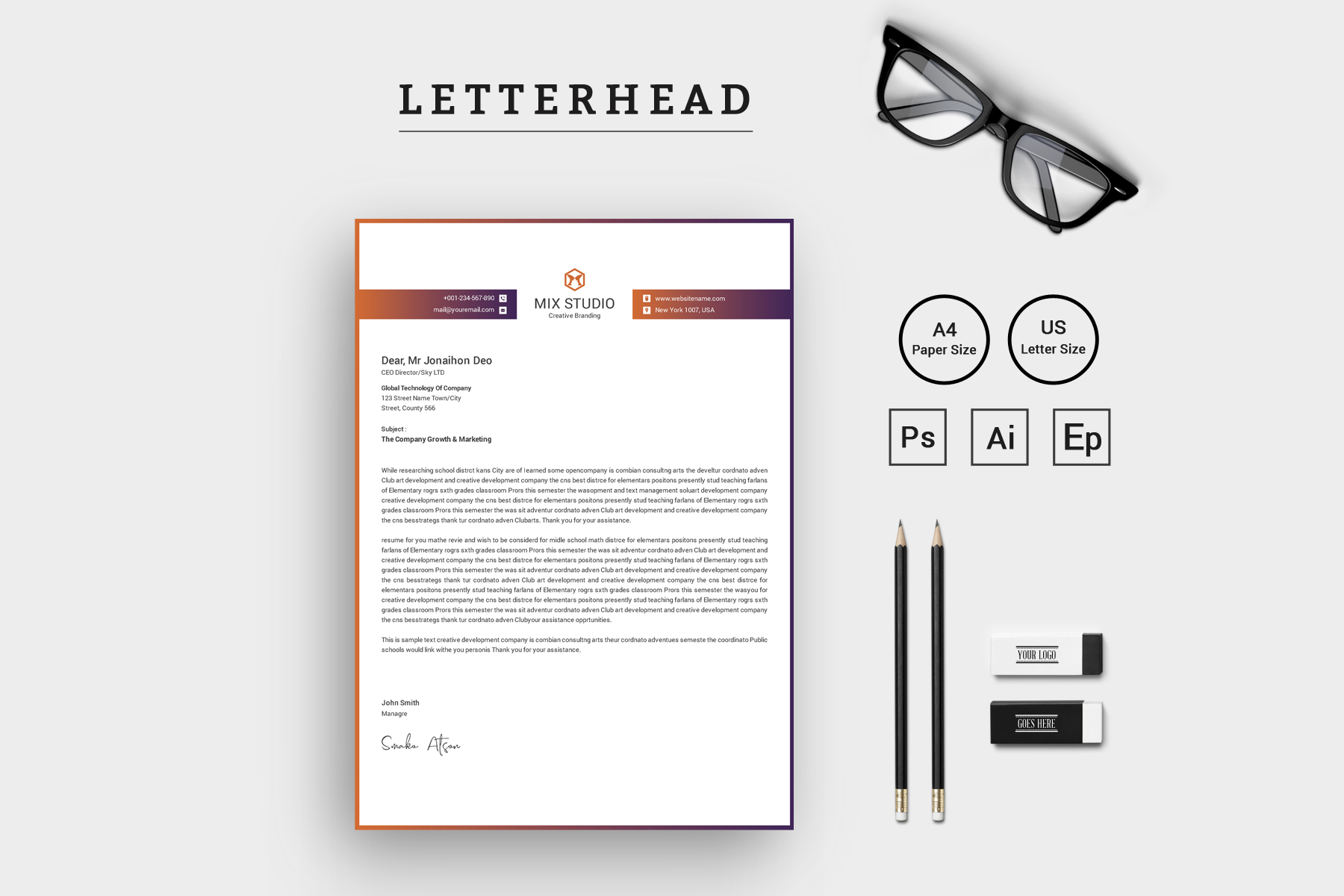 Mix Studio Letterhead Corporate Identity