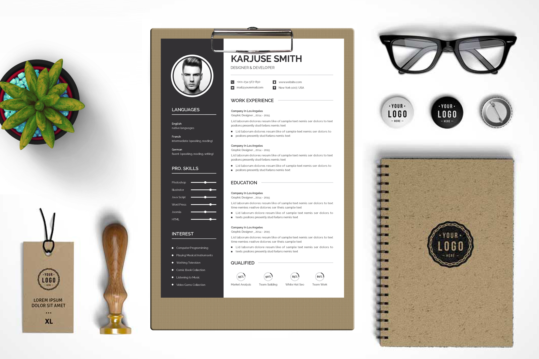 Karjuse Smith - Resume Template