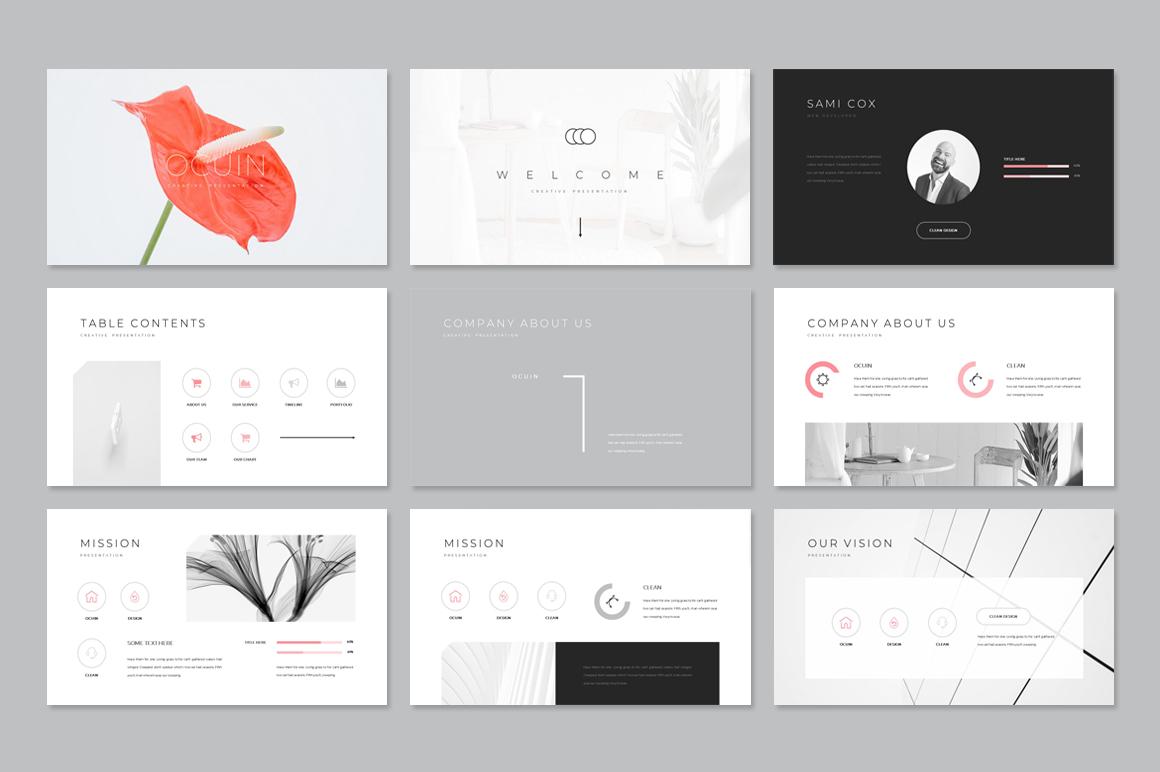Ocuin Presentation PowerPoint Template