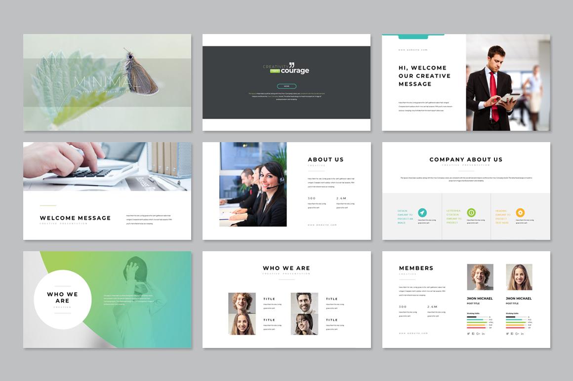 Gradient Minimal Business Plan PowerPoint Template