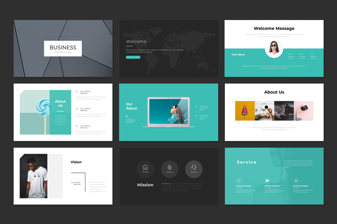 Business Plan Clean PowerPoint Template