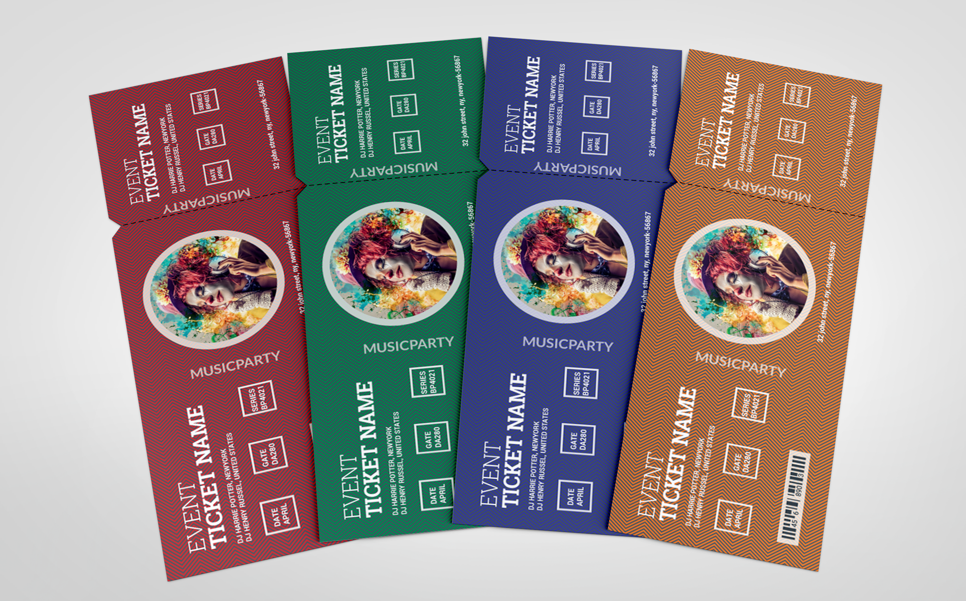 VOLUME 7 Event Ticket Corporate Identity