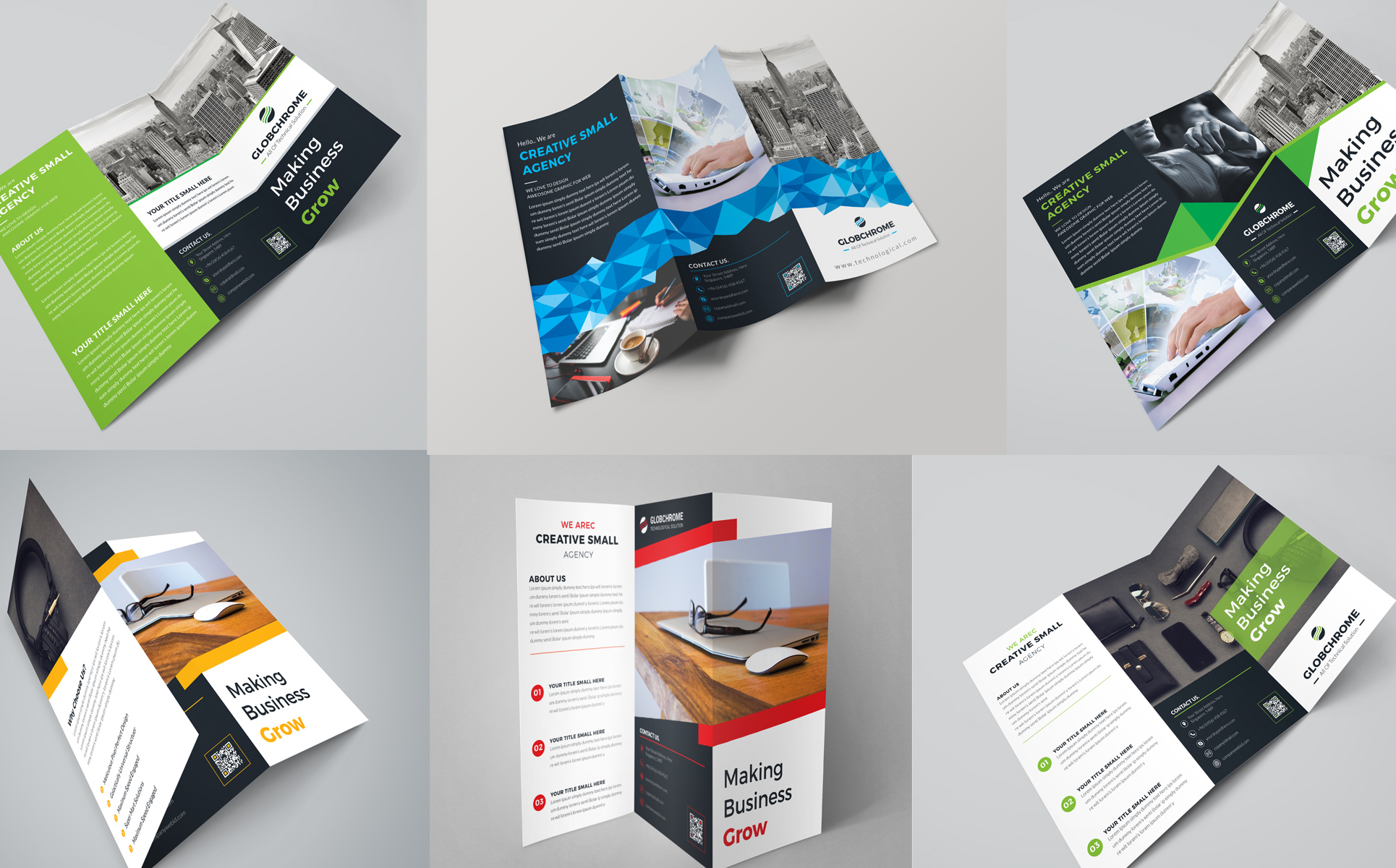 VOLUME 13 Print Ready Trifold Brochure 5+ Items Included Corporate Identity