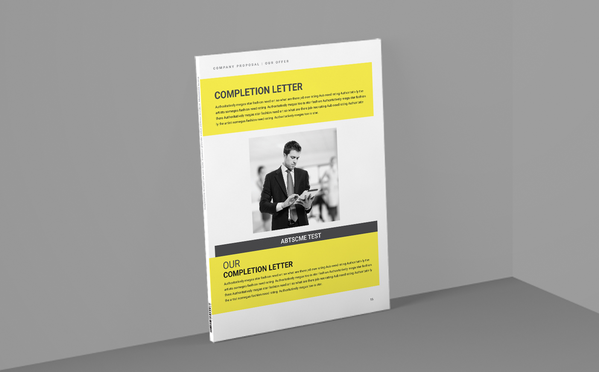 VOLUME Print Ready Proposal 2+ Items Included Corporate Identity