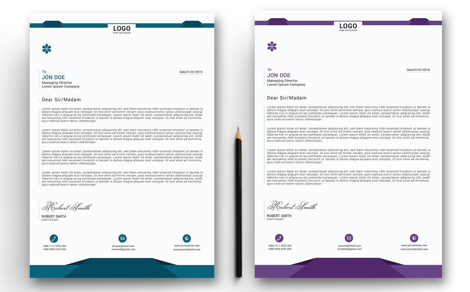 Riha – Letterhead / Cover Letter Corporate Identity